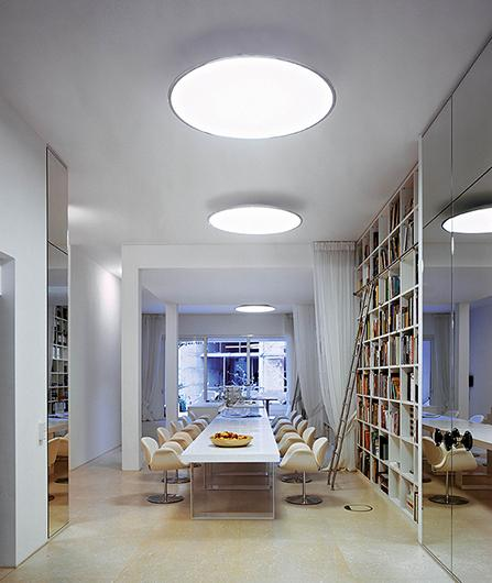 Big vibia an authentic light sculpture floating in space hanging ceiling mozeypictures Images