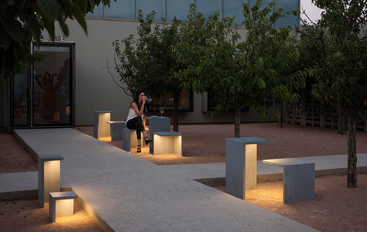 EMPTY: Illuminated Concrete Seating for the Outdoors