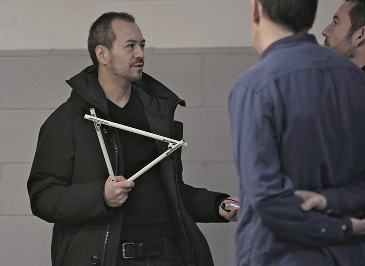 Toan Nguyen visiting the Vibia factory