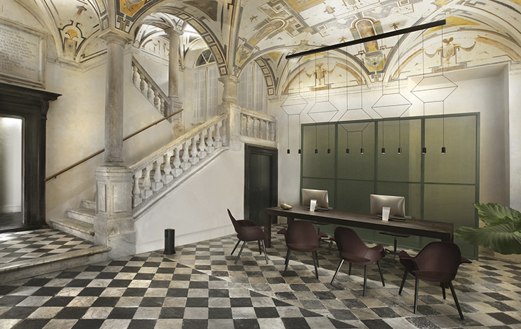 Palazzo Grillo, Timeless elegance and beauty illuminated by Vibia