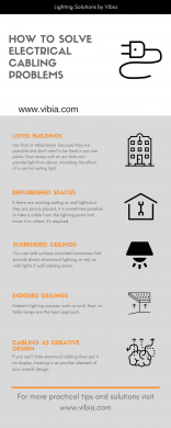 How to solve electrical cabling problems - lighting design & solutions by Vibia