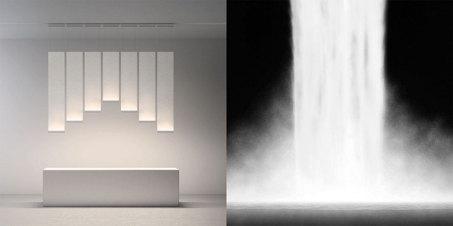 Vibia - Embedding light - Light cascade - Curtain