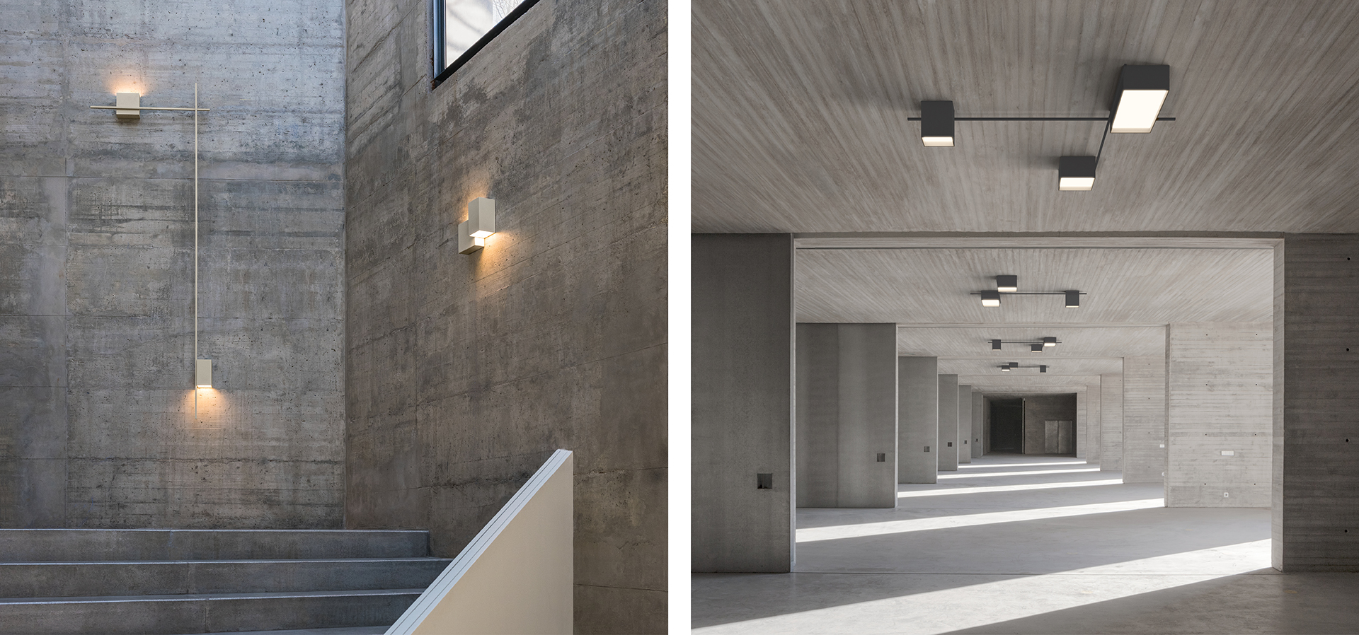 Vibia | wall and ceiling lamp Structural by Arik Levy