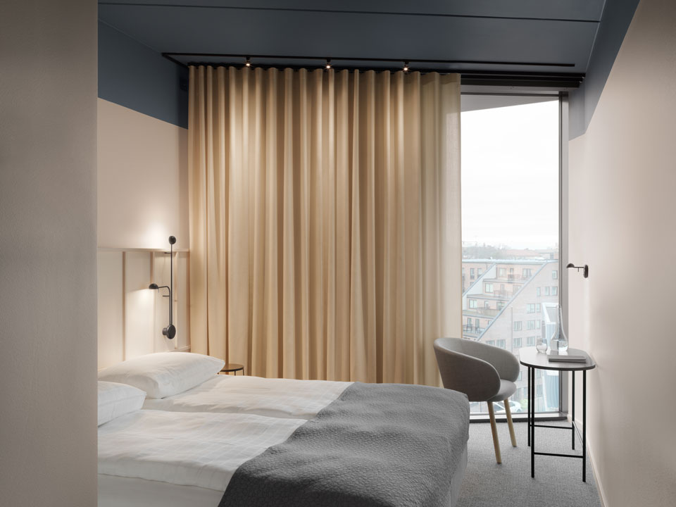 Vibia - Stories -Hotel bedroom lighting - Grow Hotel Stockholm - pin 1