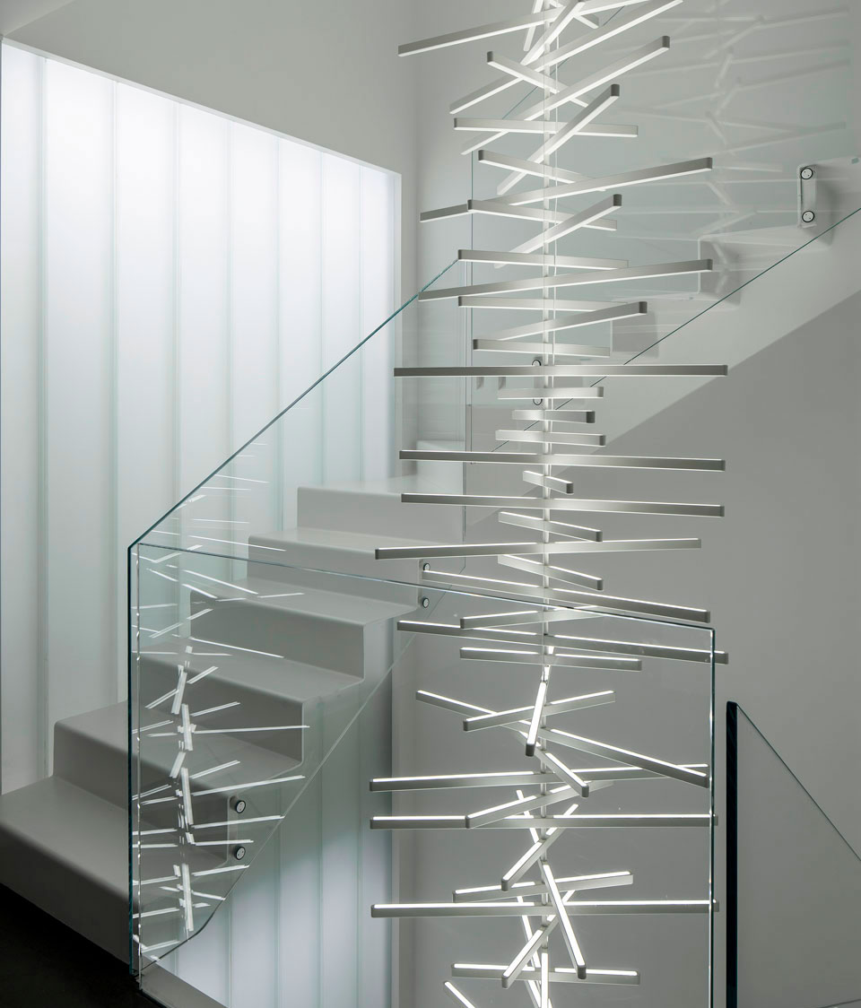 Vibia - Stories - Stairwell Ideas - Rhythm Vertical