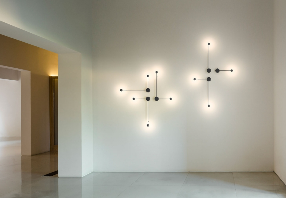 Vibia - The Edit - Pin- A Minimalist Light Mural: Vibia's Pin Wall Lamp