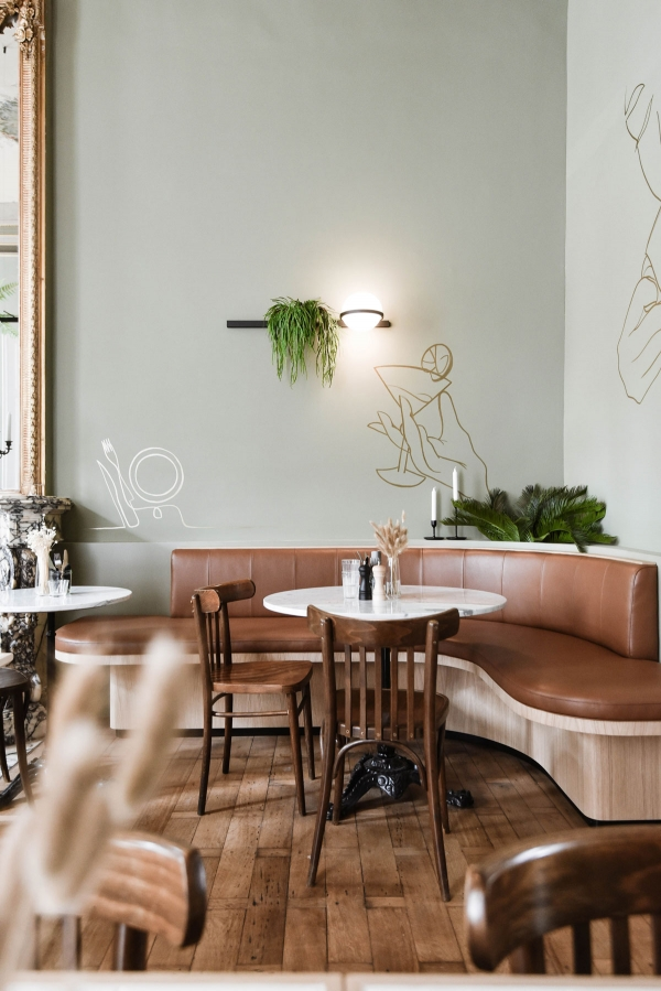 Vibia The Edit - The Palma Pendant Brightens a Belgium Restaurant