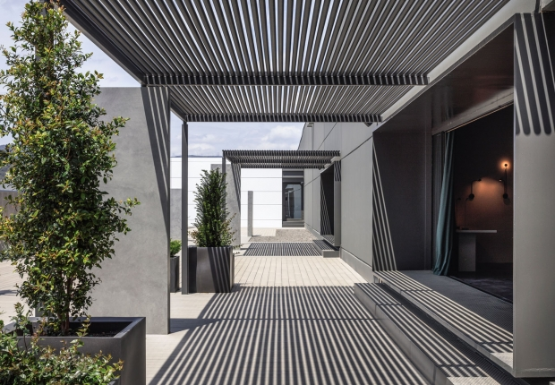Vibia Headquarters' Terraces: A Curated Display of Outdoor Lighting Collections