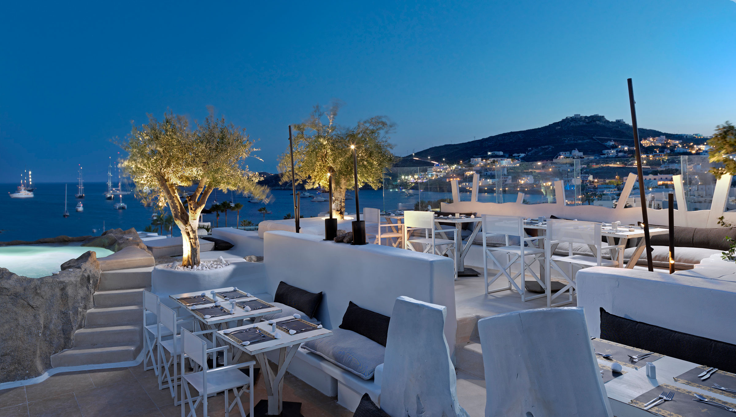 Vibia The Edit -Vibia Designs Brighten a Boutique Mykonos Hotel - Bamboo