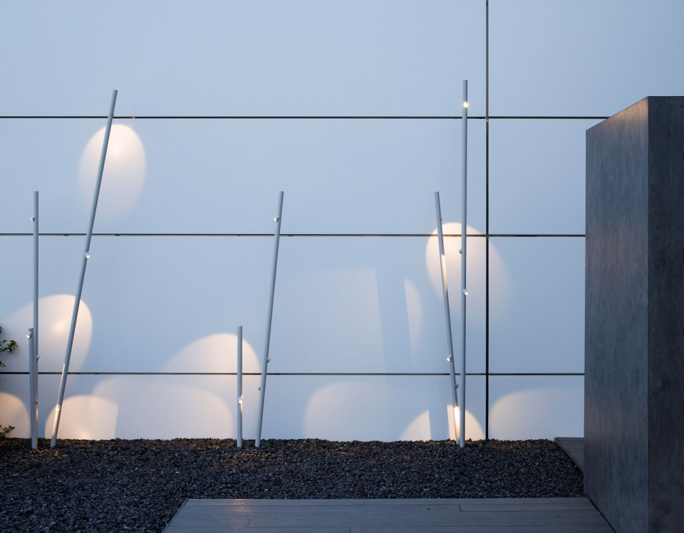 Vibia The Edit - Vibia Headquarters' Terraces: Display of Outdoor Lighting Collections - Bamboo