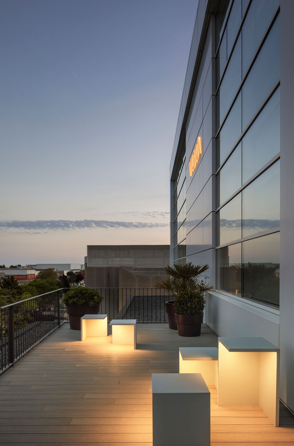 Vibia The Edit - Vibia Headquarters' Terraces: Display of Outdoor Lighting Collections
