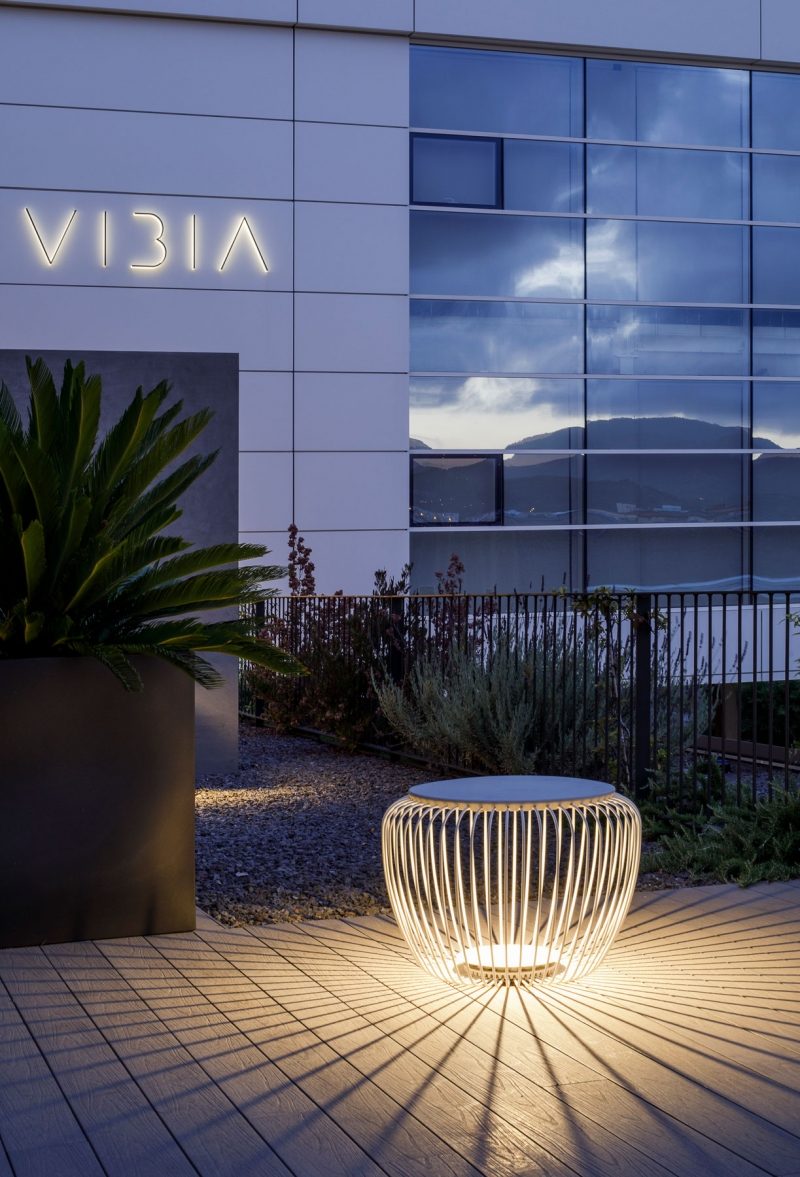 Vibia The Edit - Vibia Headquarters' Terraces: Display of Outdoor Lighting Collections - Meridiano