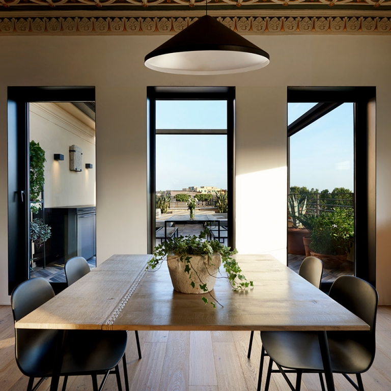 Designers Illuminate a Renovated Rome Penthouse With Vibia Lighting