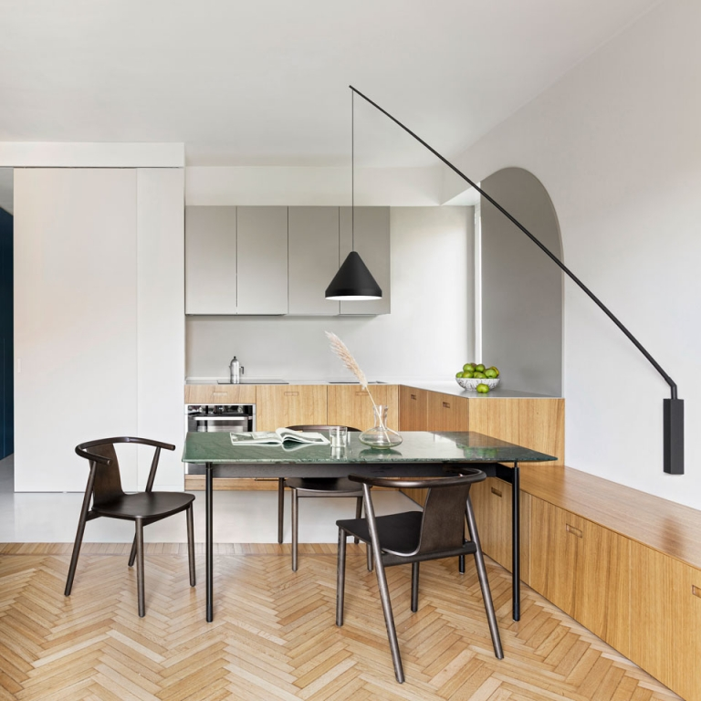 Vibia's North Luminaire Brightens a Renovated Milan Apartment
